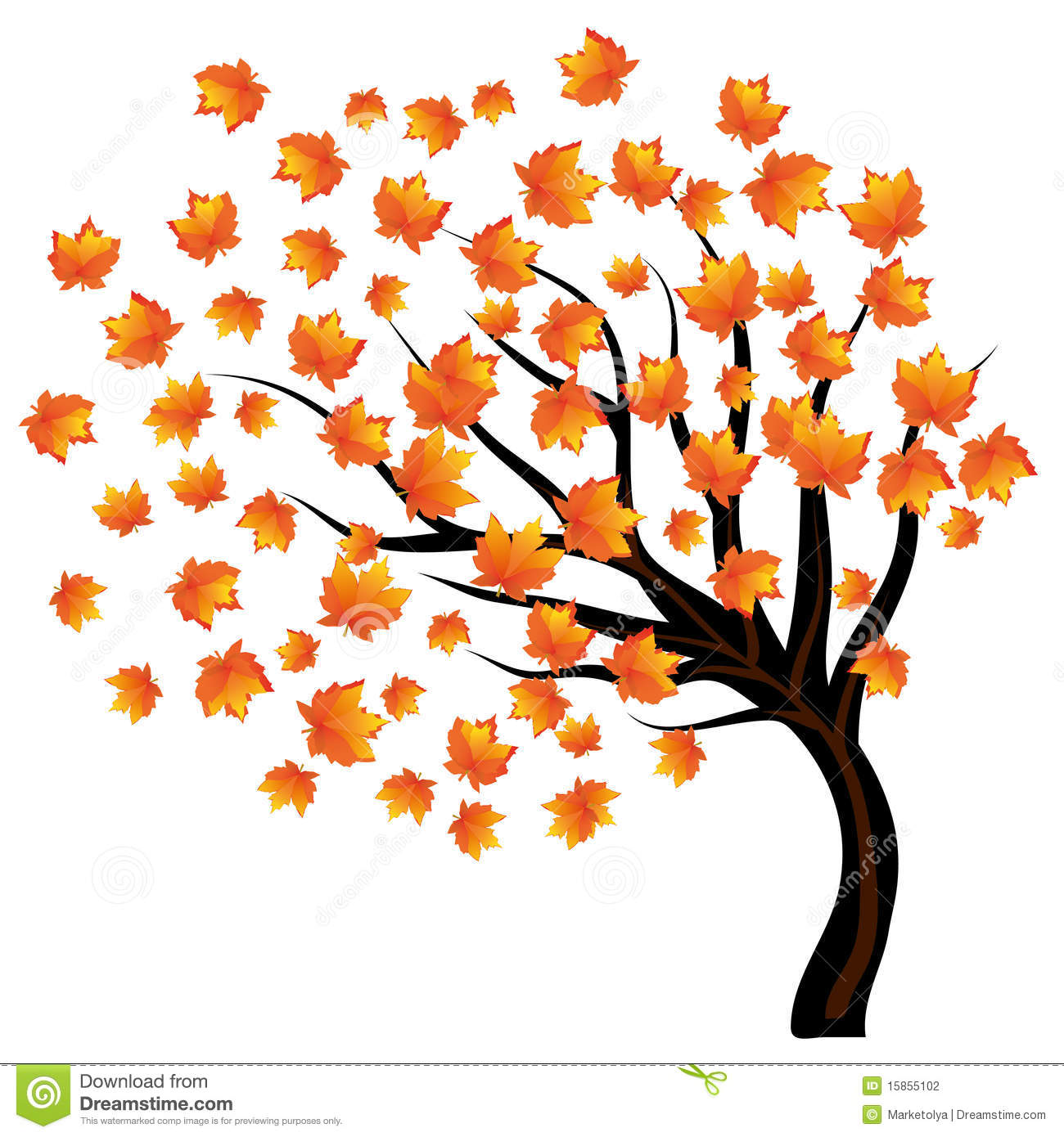 Autumn tree stock vector. Illustration of lonely, lone - 15855102 for Fall Tree Drawing  199fiz
