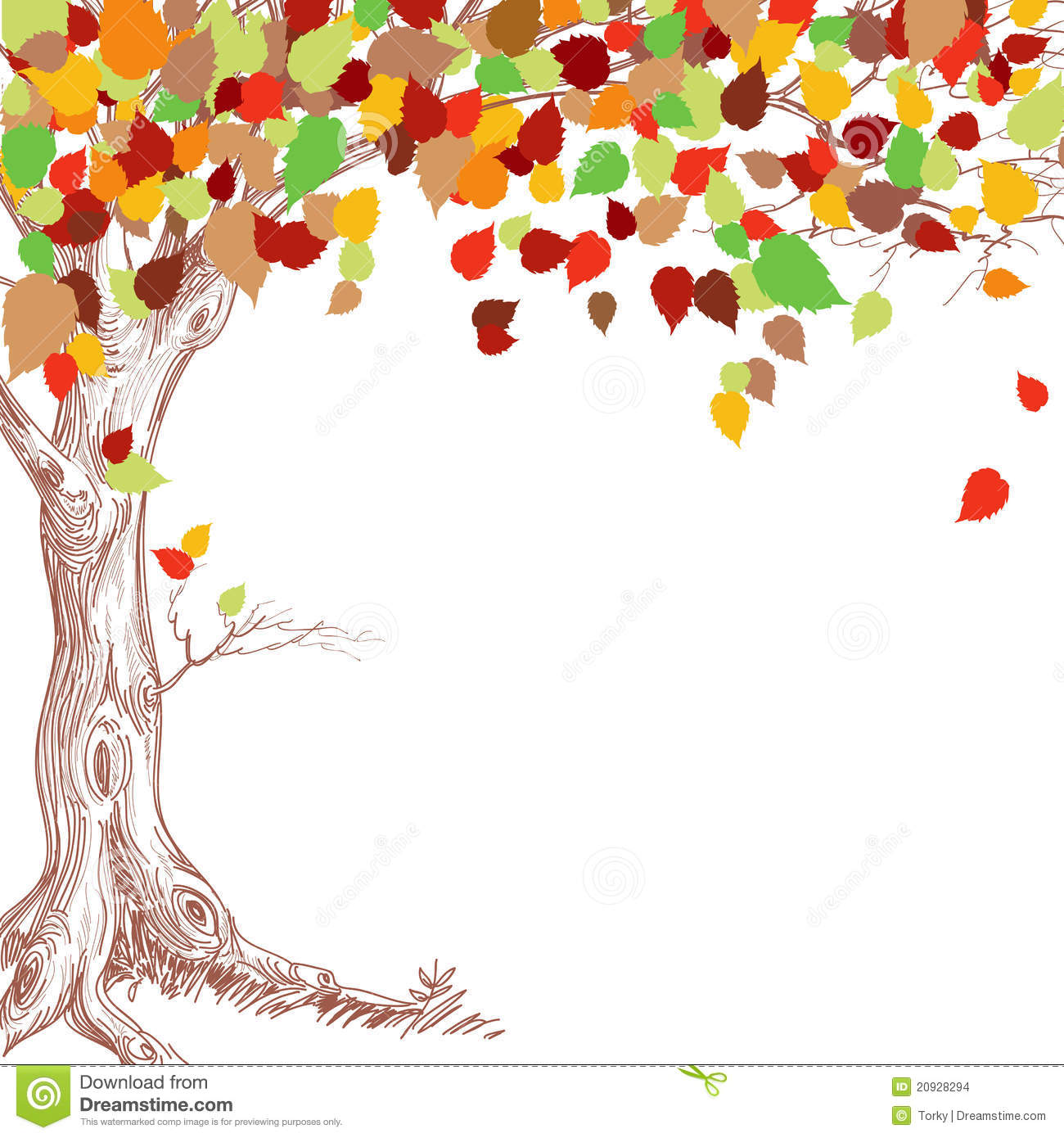 Autumn Tree Stock Vector Illustration Of Decoration