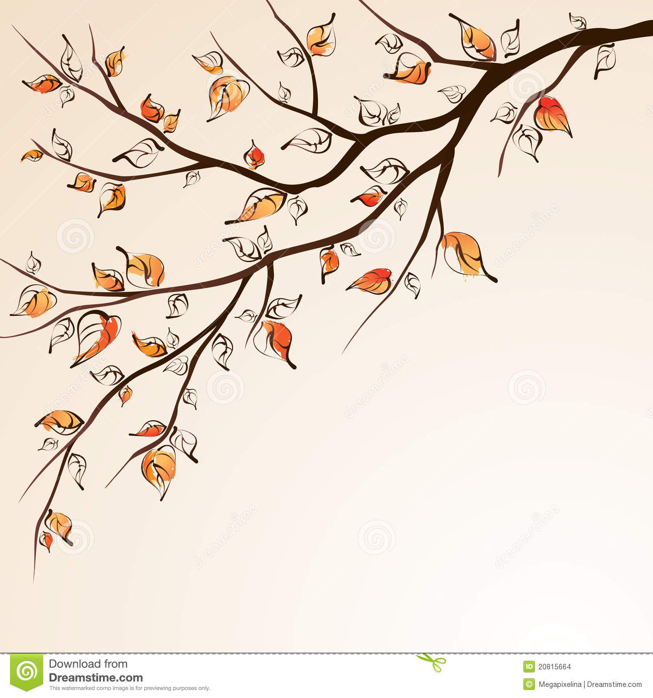 More similar stock images of ` Autumn tree branch `