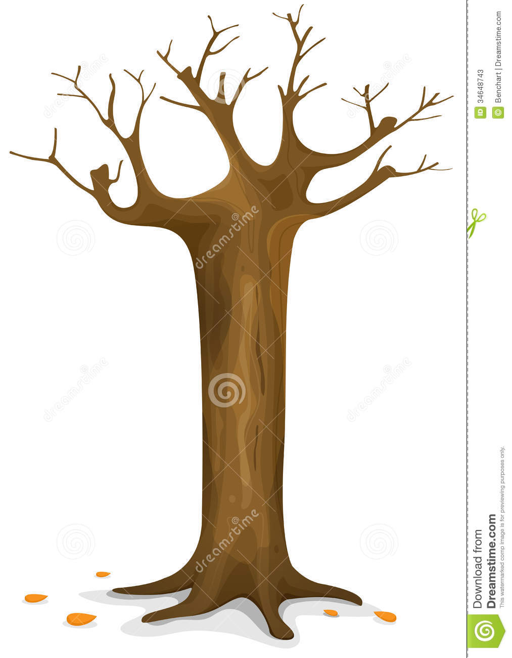 Autumn Tree Stock Photos - Image: 34648743 Cartoon Fall Tree With Branches