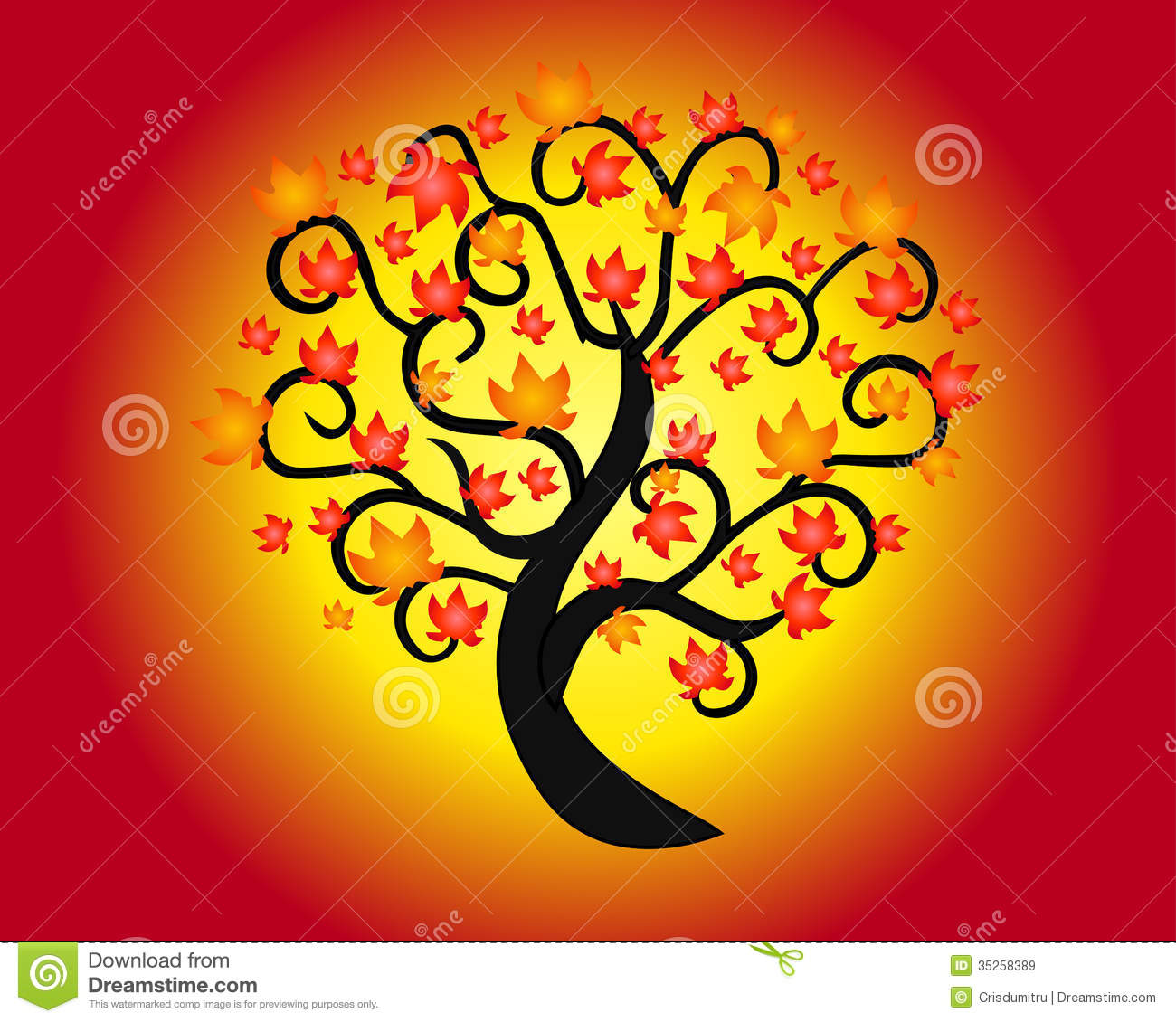 Autumn tree royalty free stock images image 35258389 - Dreaming about the color red ...