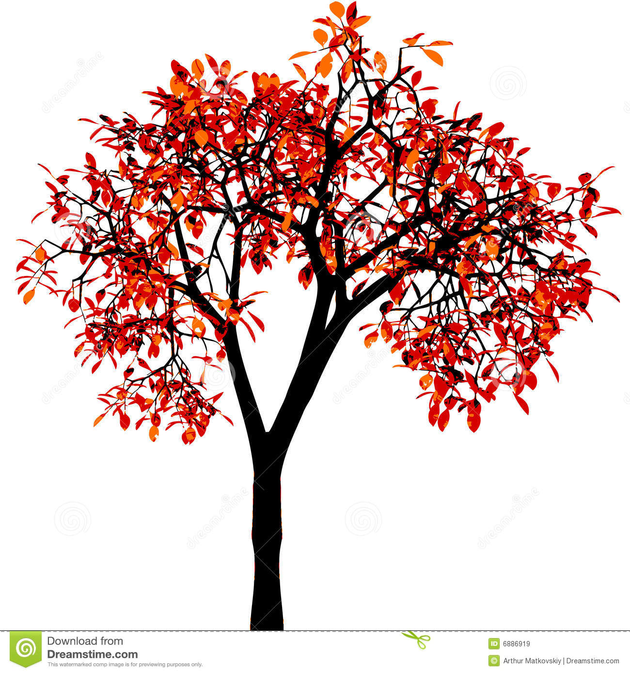 Autumn Tree. Vector. Royalty Free Stock Images - Image: 6886919