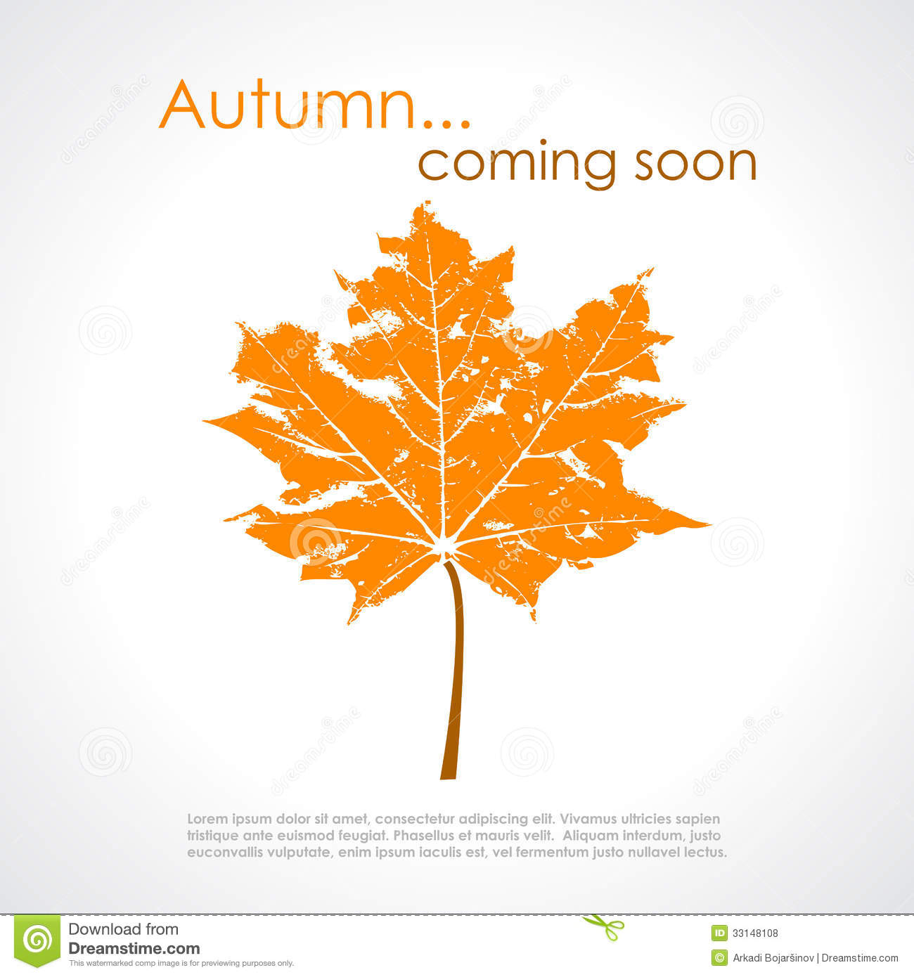autumn vector poster royalty free stock photos image