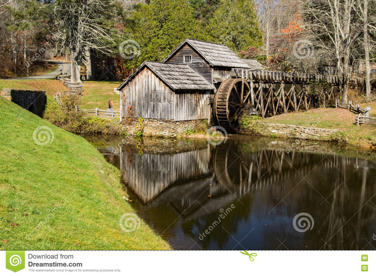Mabry Mill Blue Ridge Parkway Virginia In Autumn Royalty Free Stock Photography