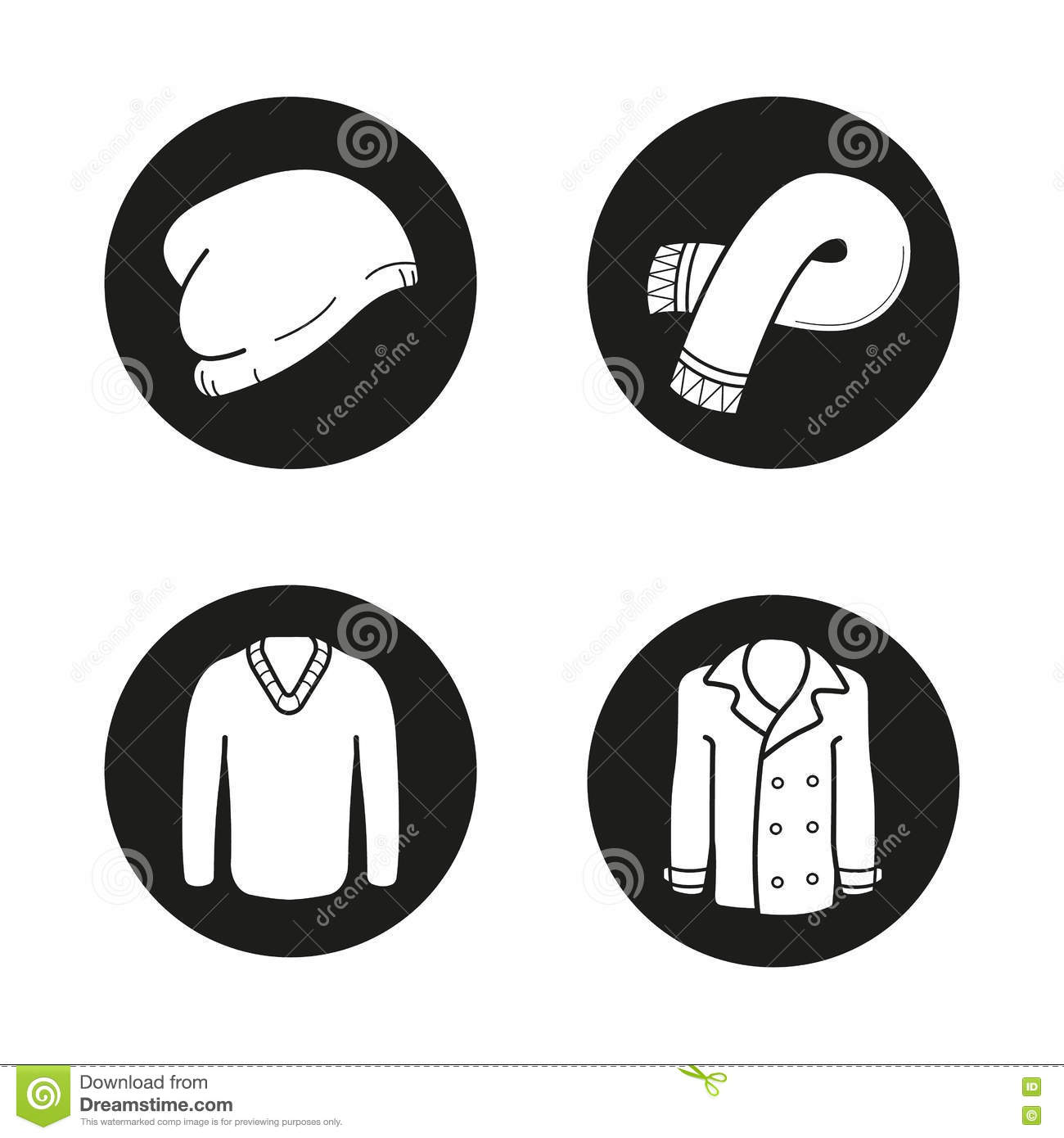 Winter clothes icons set simple style vector illustration 78917420 - Autumn plowing time all set for winter ...