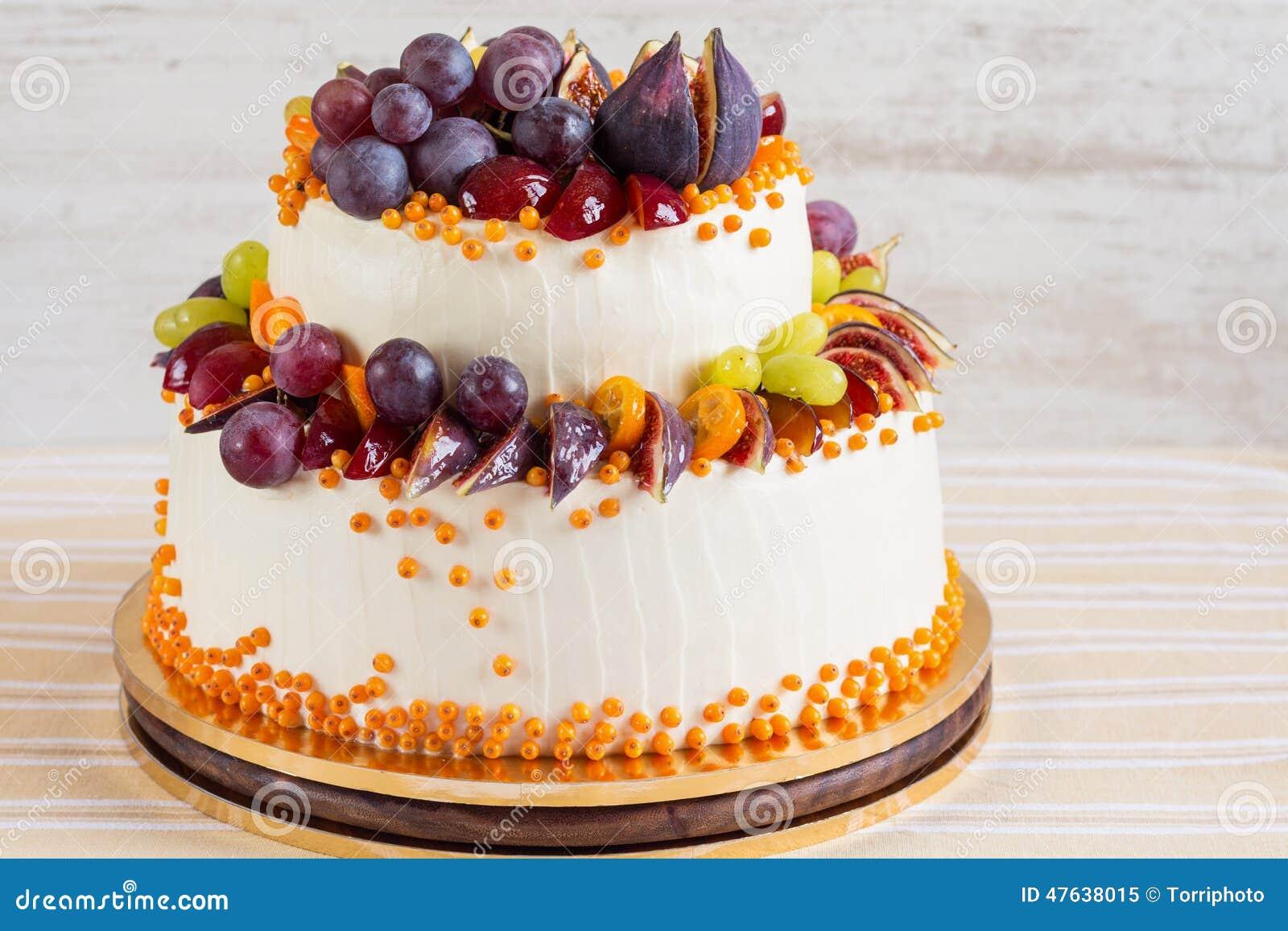 Autumn Wedding Cake Stock Image Image Of Celebration 47638015
