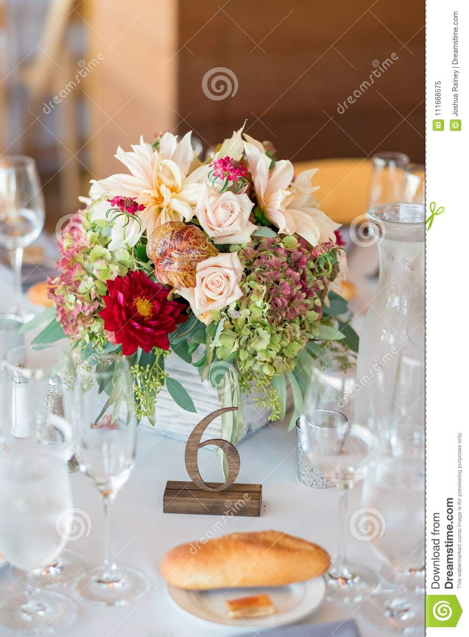 Autumn Wedding Floral Centerpiece