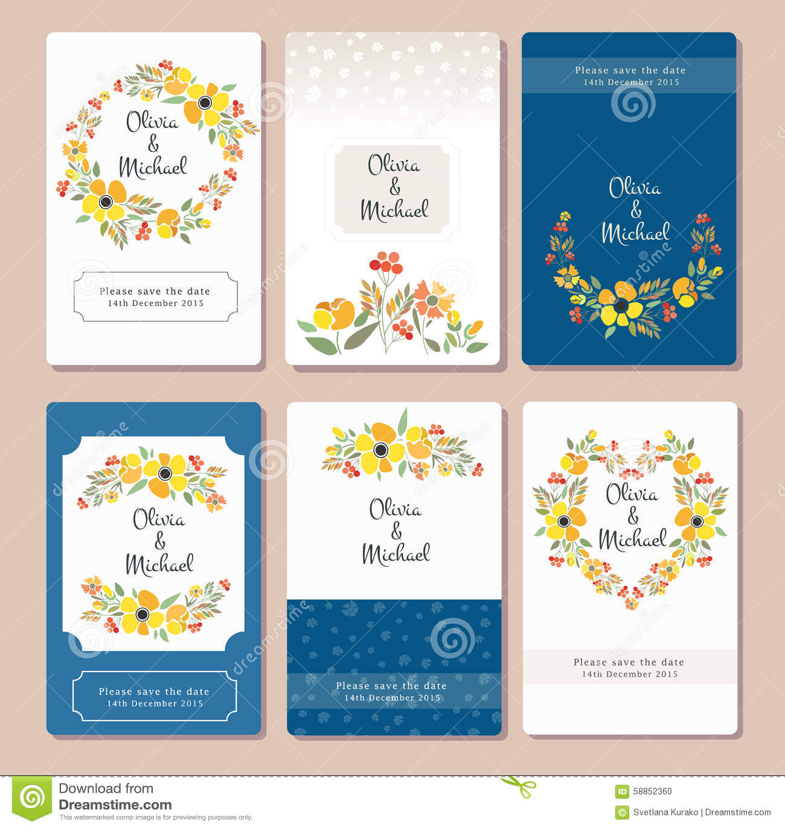 flower tags template free - autumn wedding graphic set stock illustration image