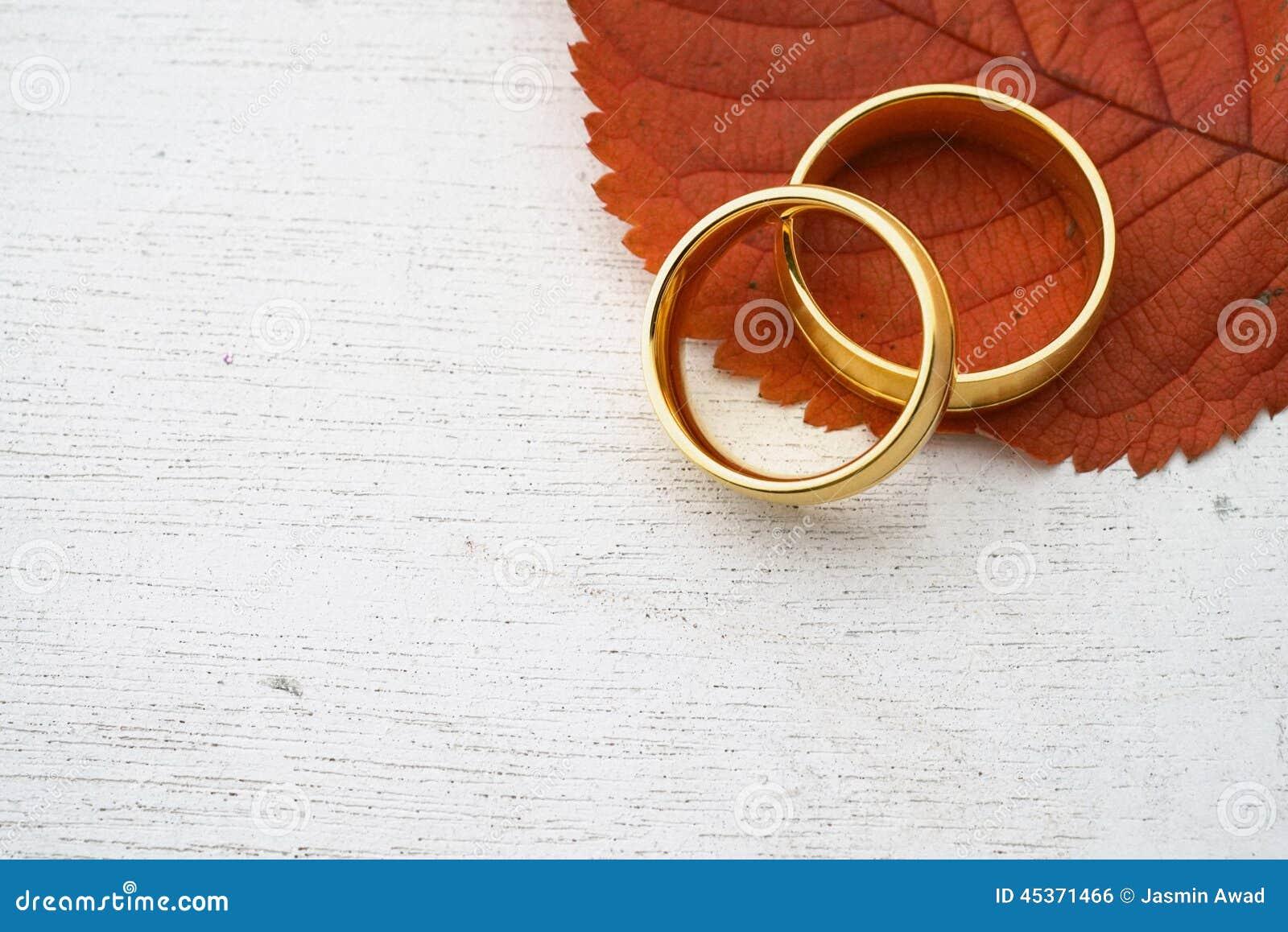 autumn wedding invitation stock photo