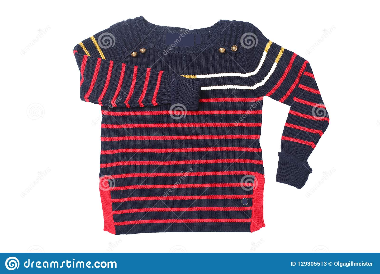 f063ed47643a Autumn And Winter Children Clothes. A Red Black Striped Cozy War ...