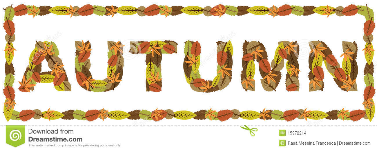 Autumn Word Stock Images Image 15972214
