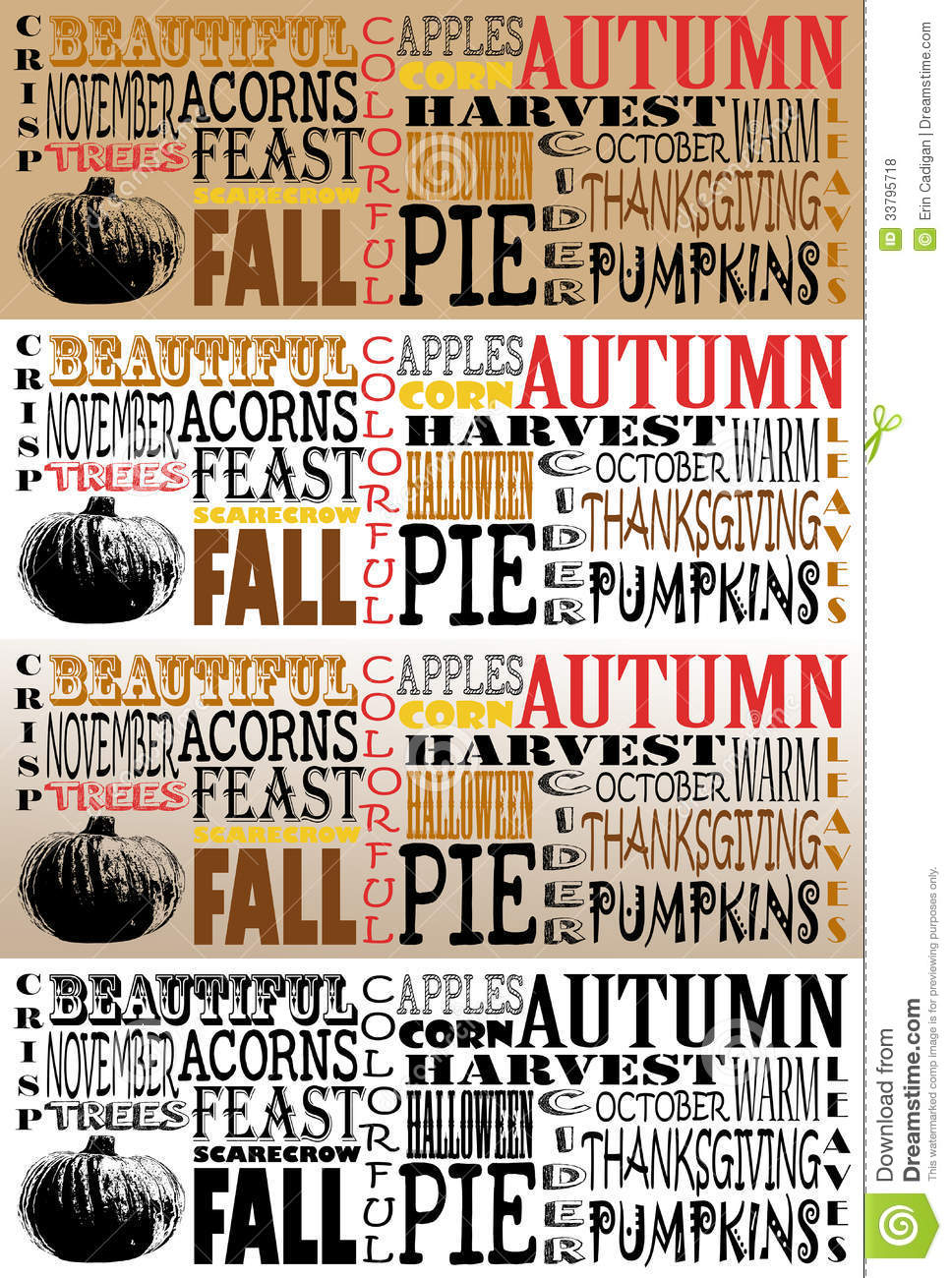 Autumn Word Art Collection Facebook Timelines Se Royalty Free Stock Photos Image 33795718