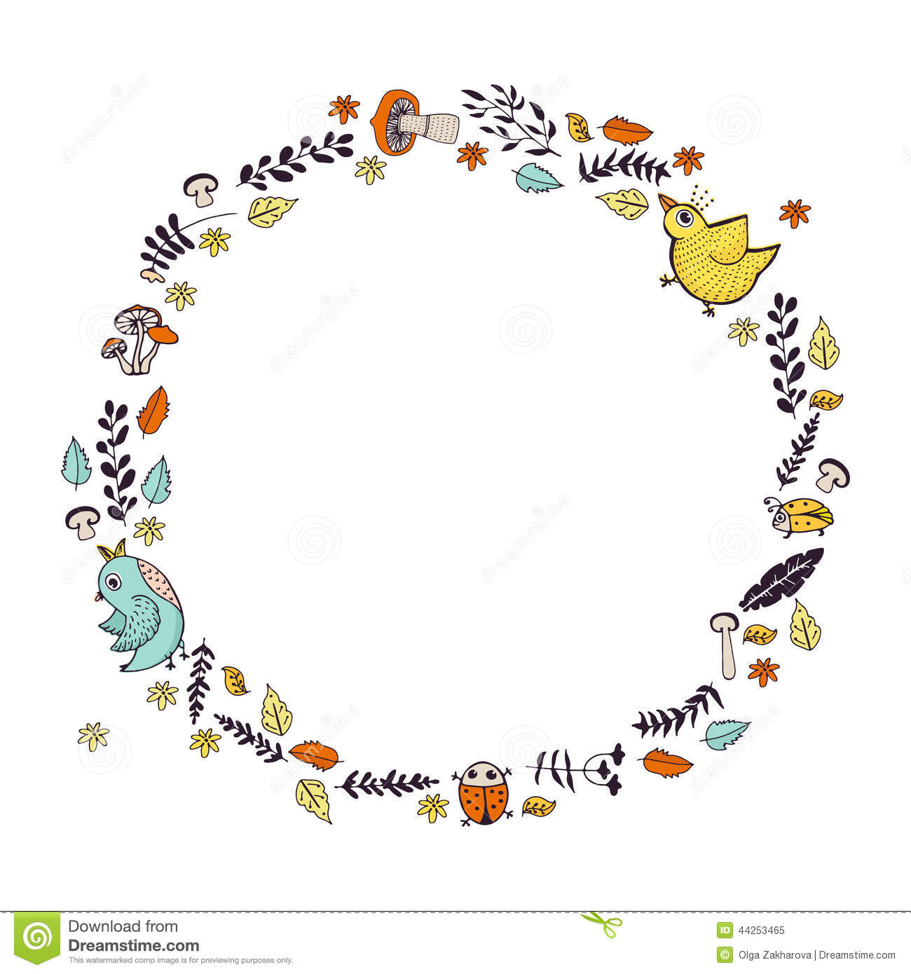 Autumn Wreath Stock Vector Illustration Of Autumn