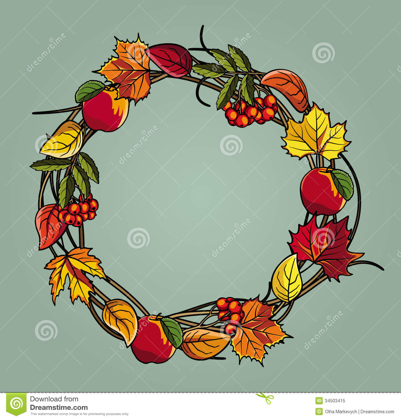 Displaying 18 gt images for fall wreath clipart