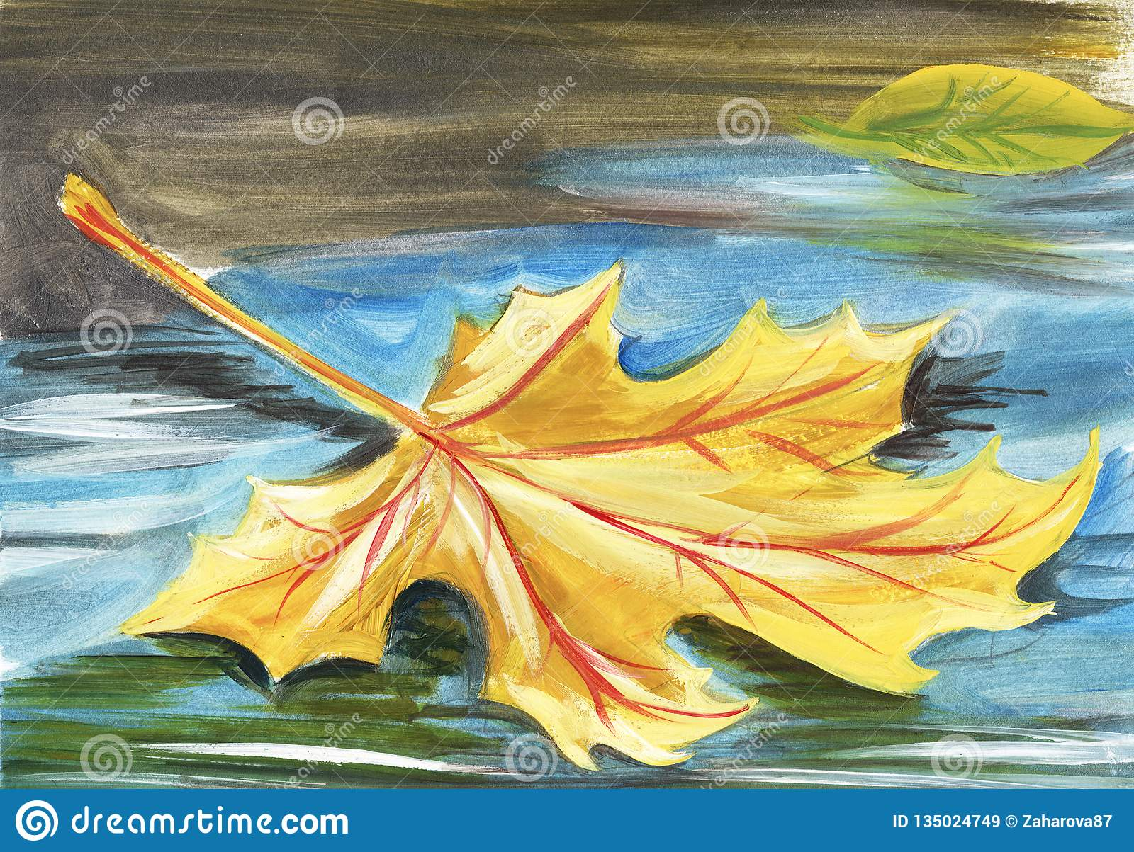 Autumn Artwork Leaves Drawing