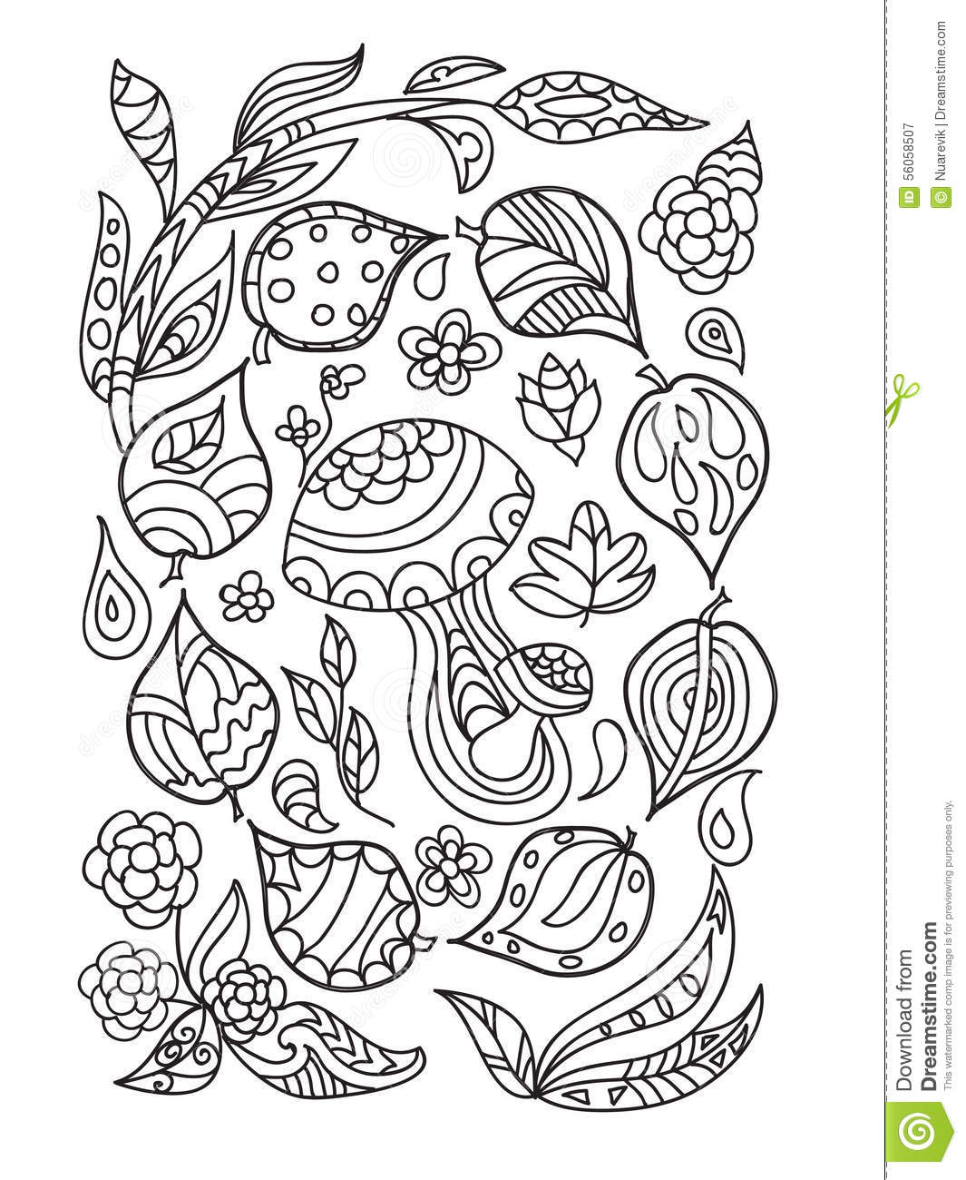 Autumn Zentangle Stock Illustration. Illustration Of