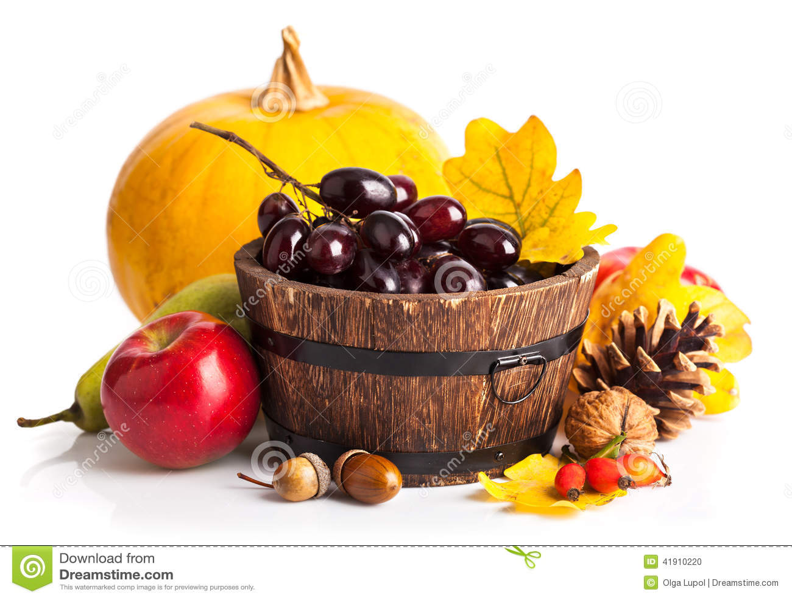 Autumnal harvest fruit and vegetables