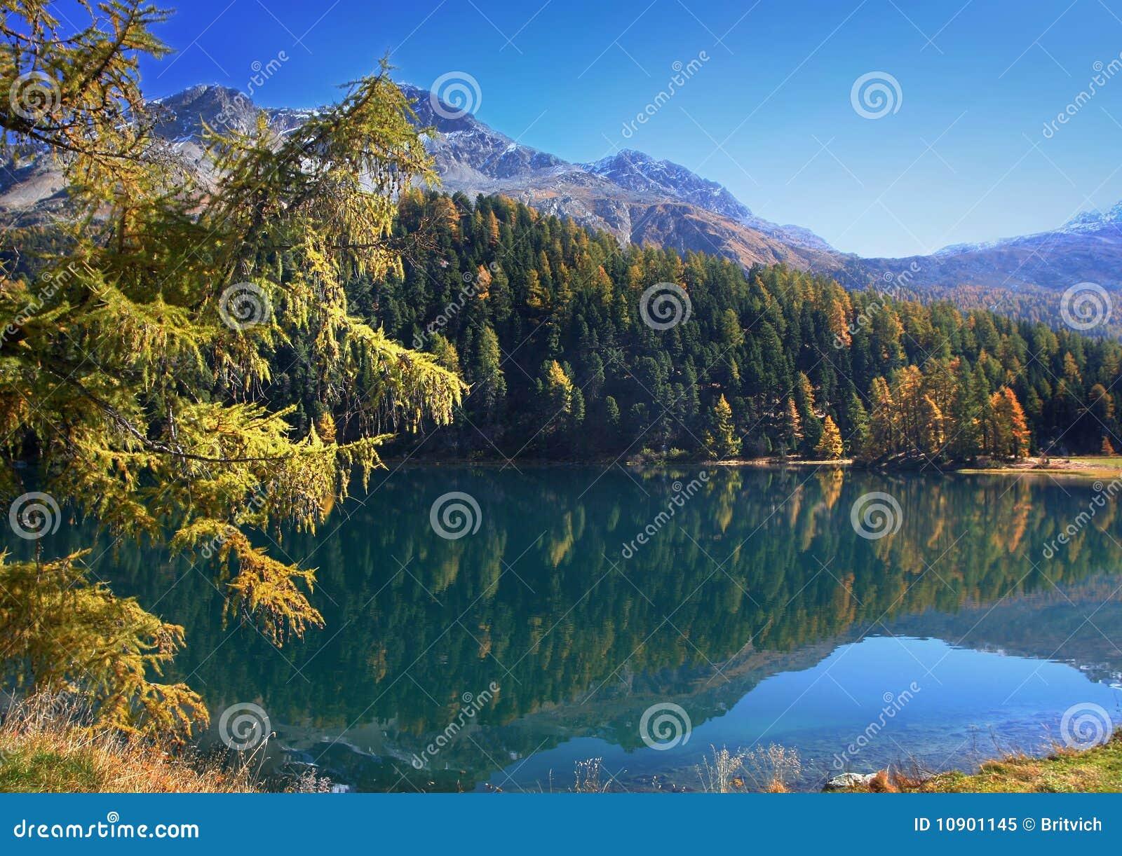 Calendario Svizzero.Autunno Sul Lago Svizzero Immagine Stock Immagine Di