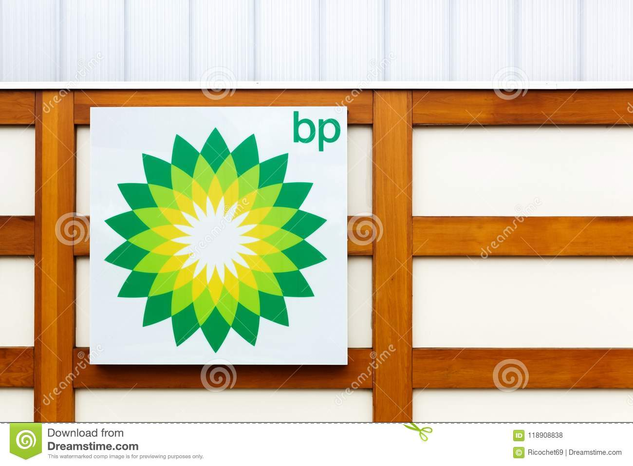 Bp Logo On A Wall Editorial Stock Photo Image Of England 118908838