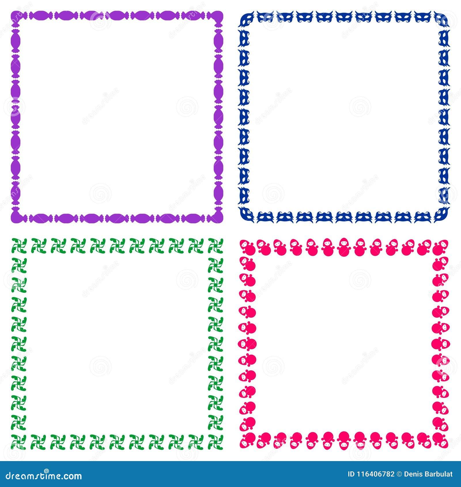 coloured child frames stock vector illustration of element 116406782