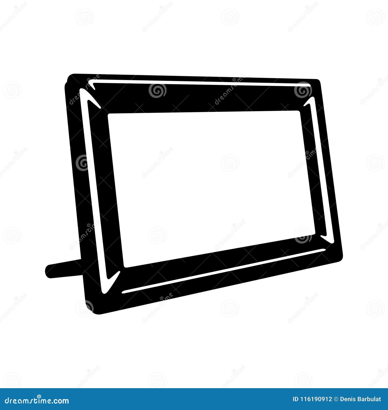 Digital photo frame stock vector. Illustration of monitor - 116190912