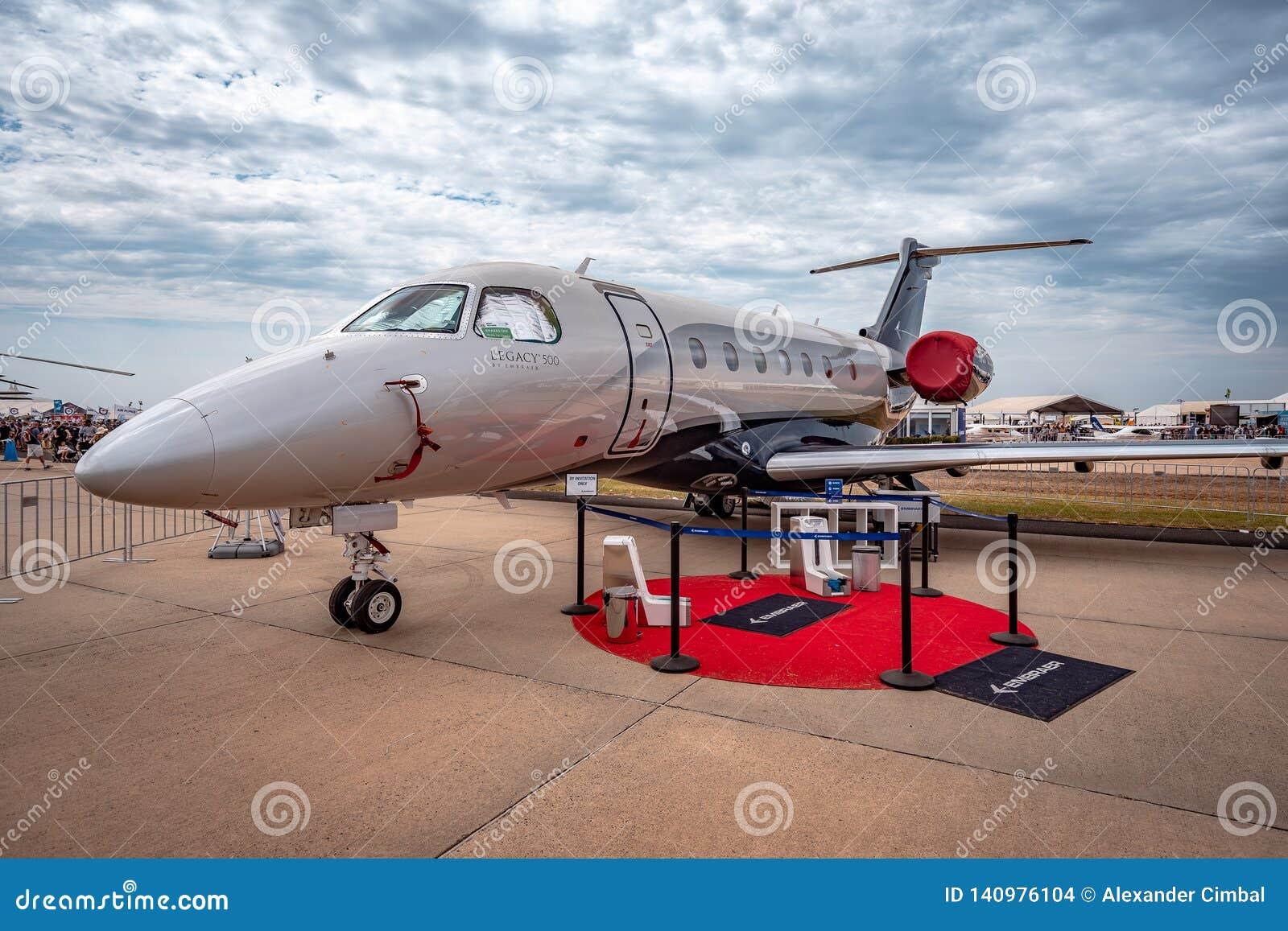 Avalon, Melbourne, Australië - breng 3, 2019 in de war: Erfenis 500 van Embraer privé straal