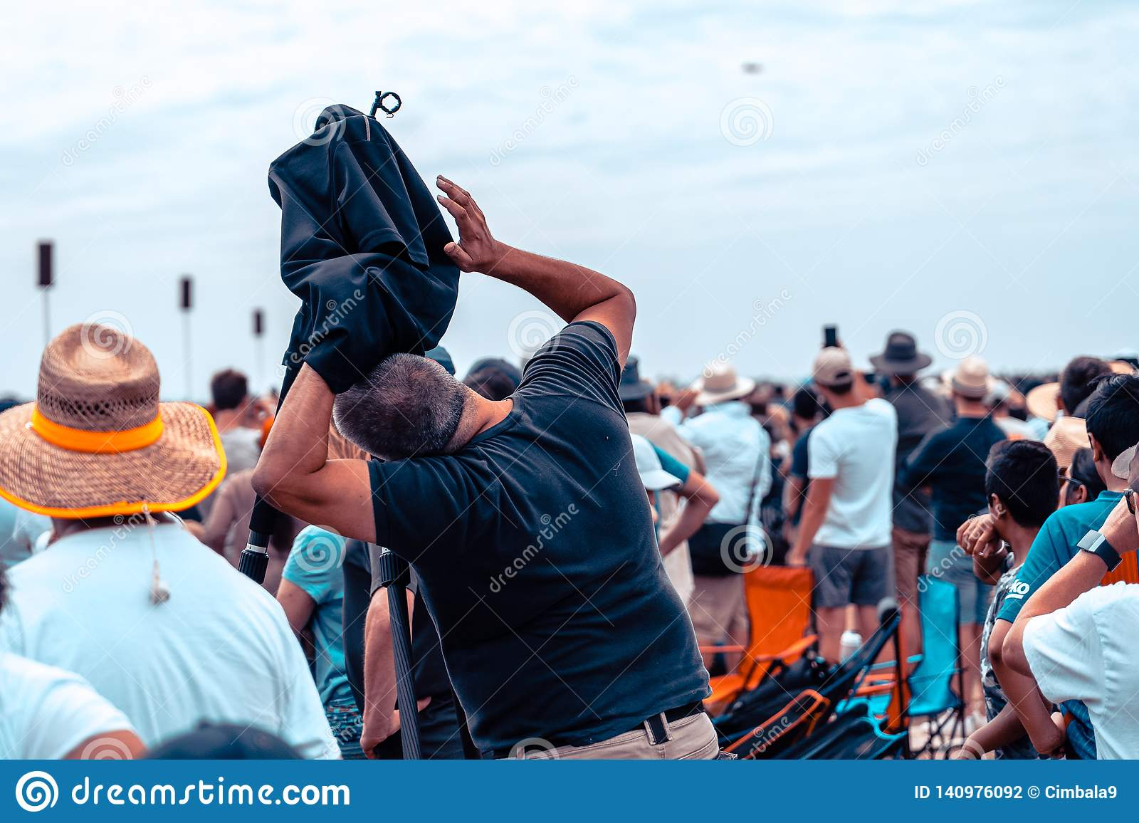 Avalon, Melbourne, Australia - Mar 3, 2019: Photographer at the airshow