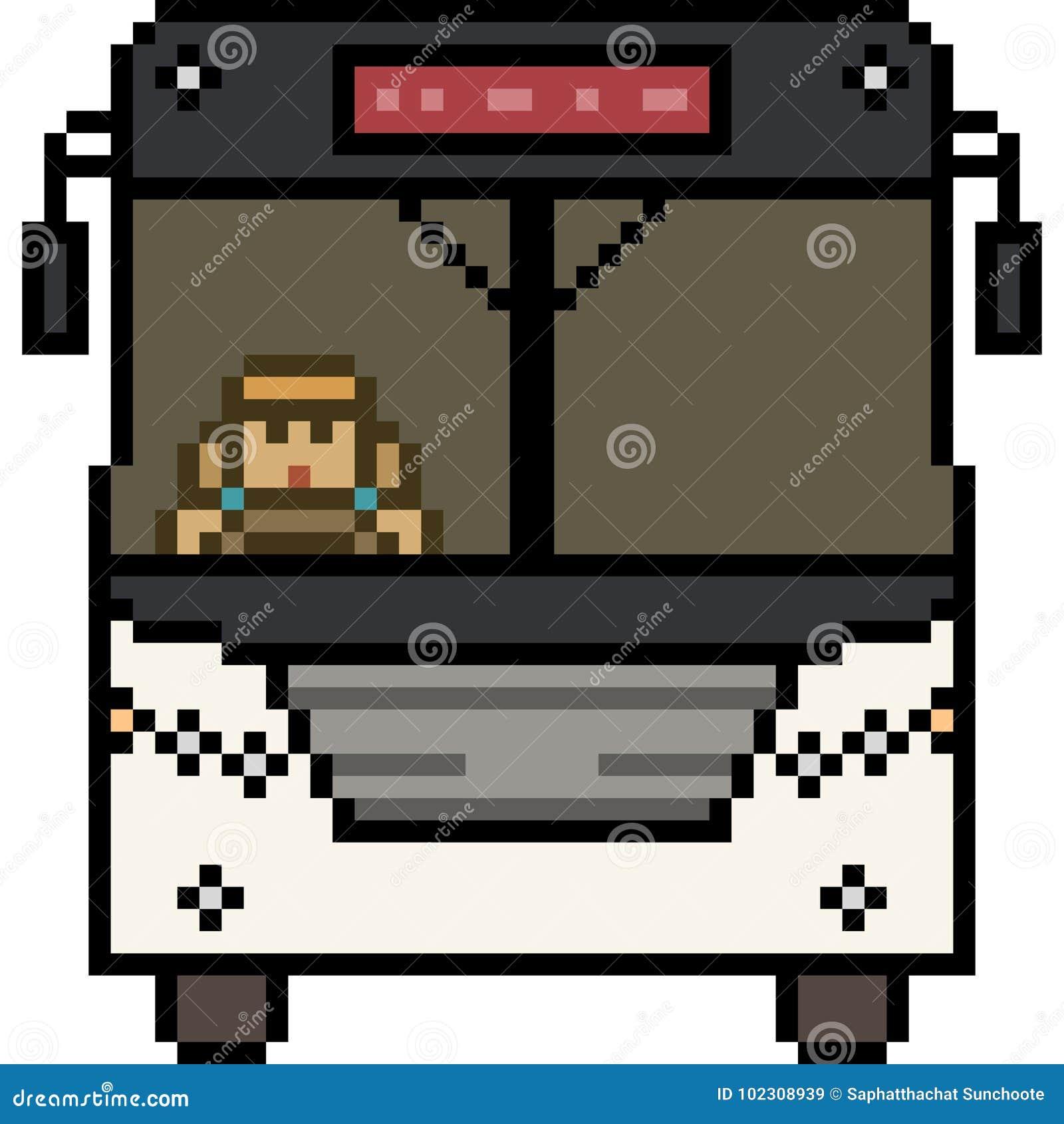 Avant Dautobus Dart De Pixel De Vecteur Illustration De