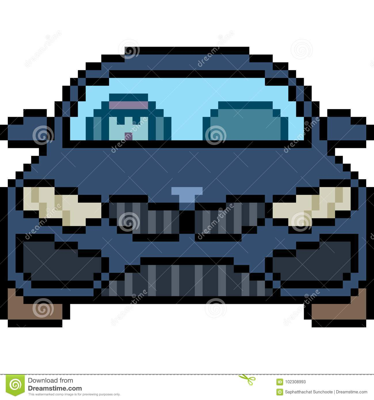 Pixel Art Voiture De Course Facile