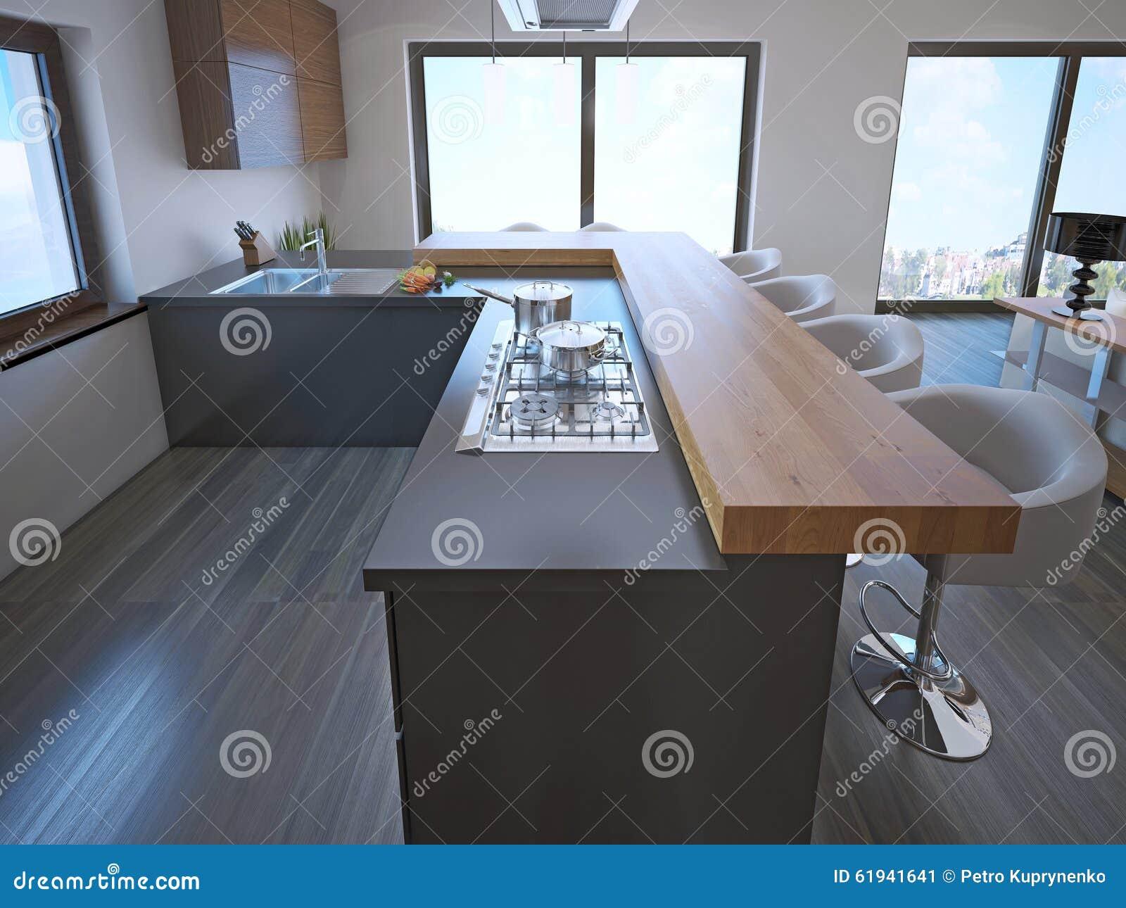 Avant garde kitchen island bar stock illustration for Avant garde interiors