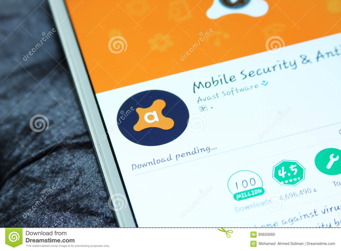 Avast Mobile Security And Antivirus App Editorial Image