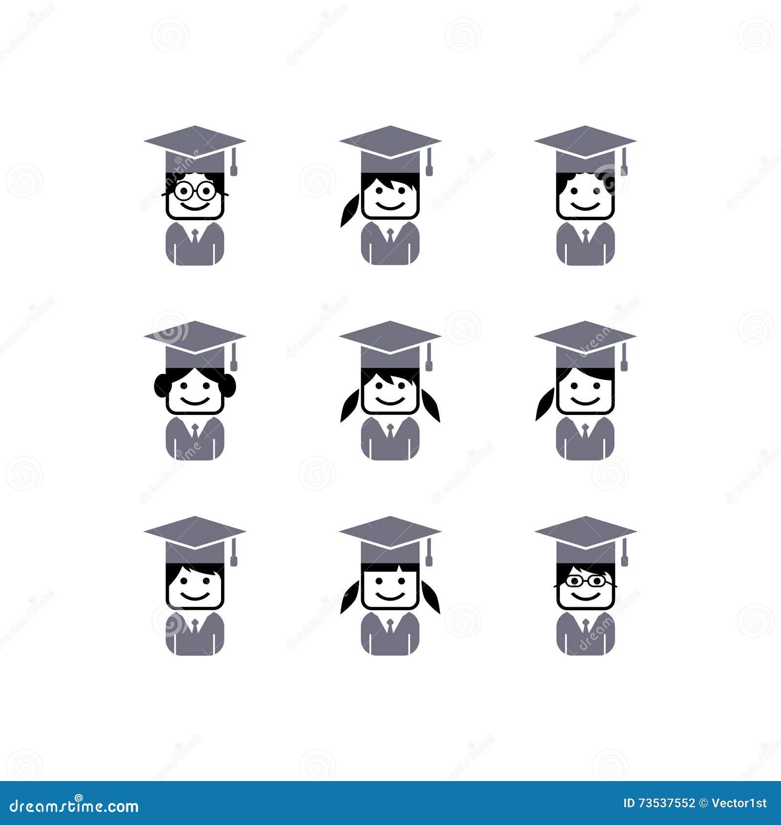 Avatar Accademico Dello Studente Di College Illustrazione