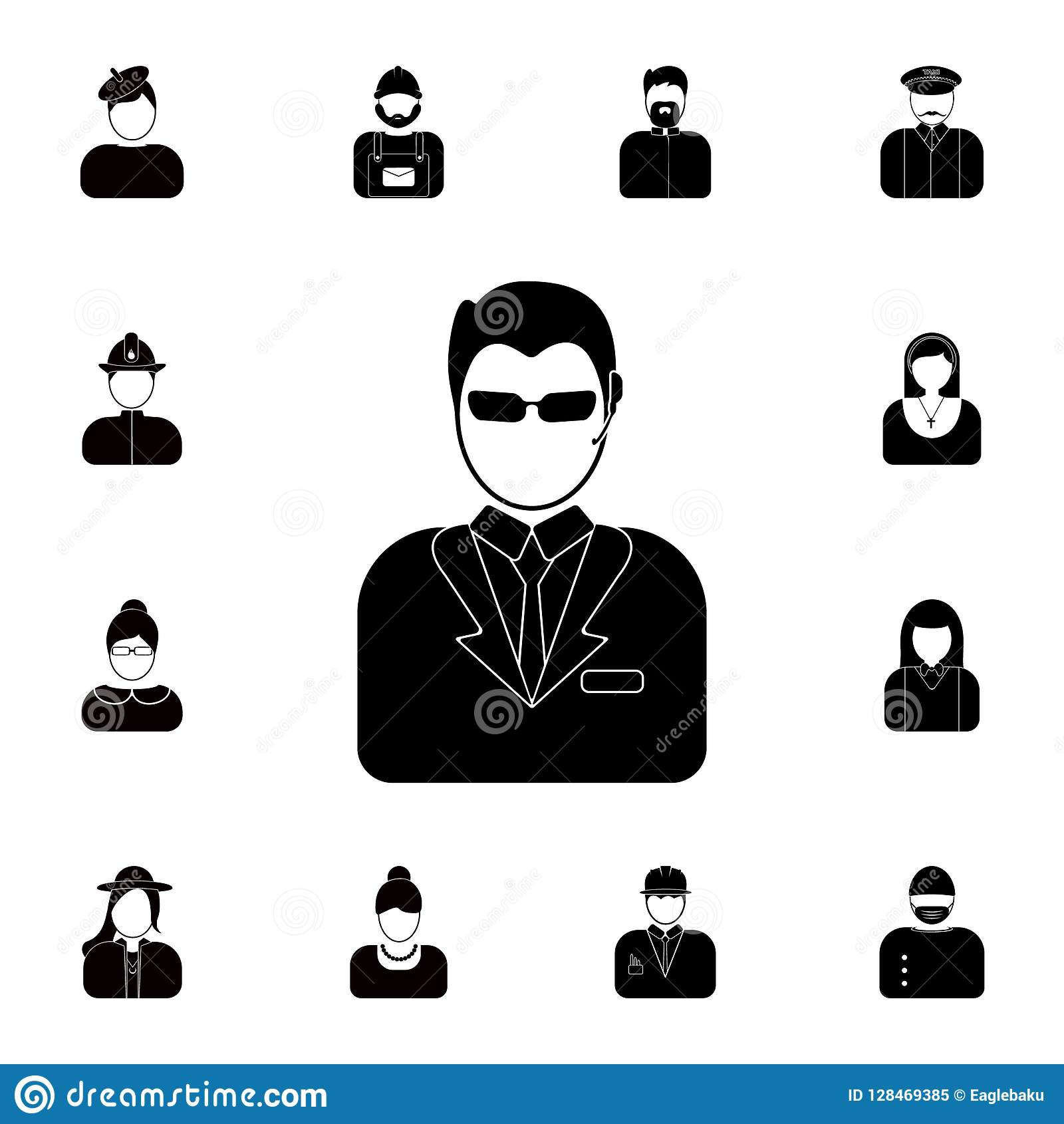 avatar of the bodyguard icon. Detailed set of avatars of profession icons. Premium quality graphic design icon. One of the collect