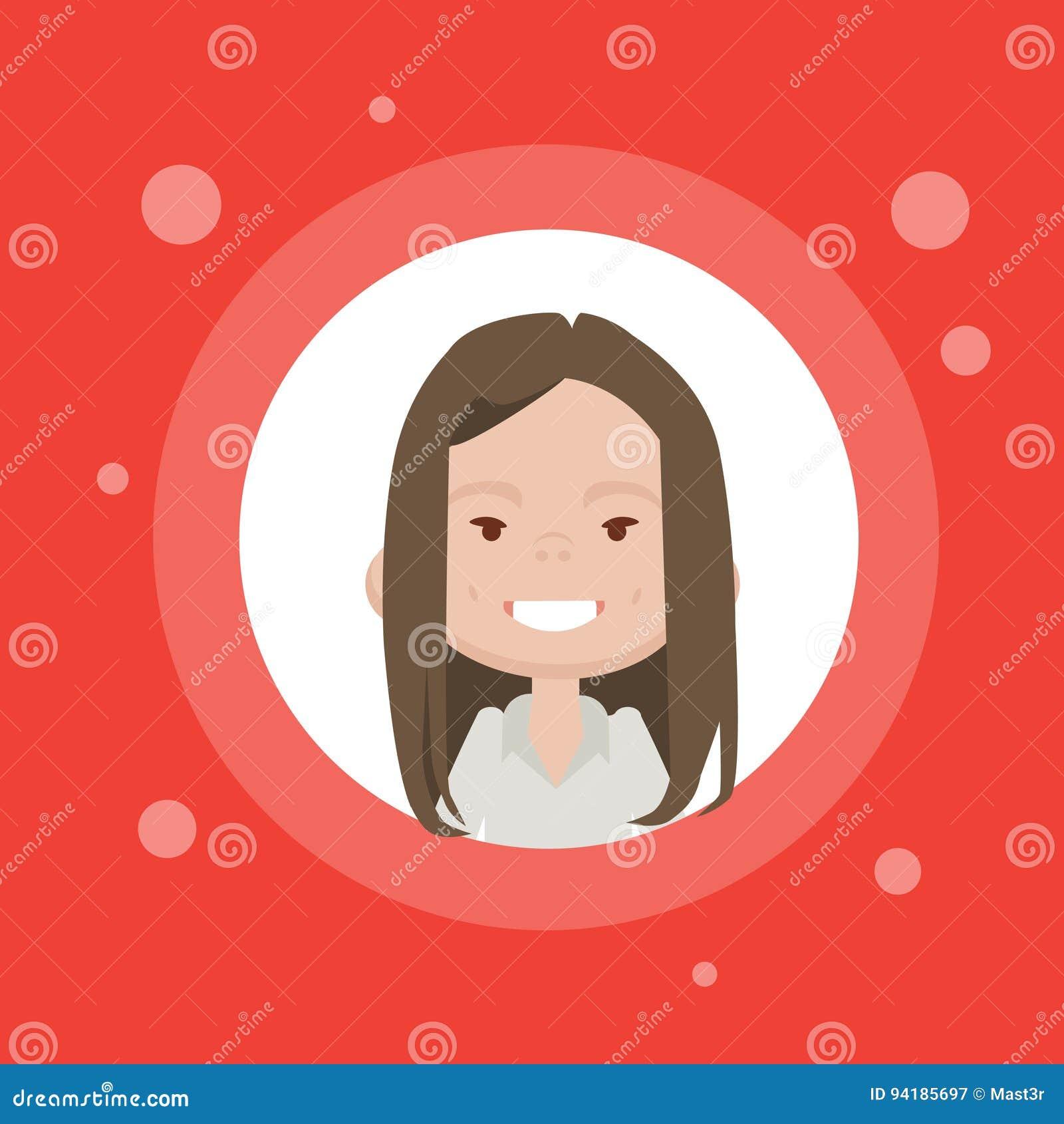 Avatar Féminin D Icône De Profil Portrait De Bande Dessinée