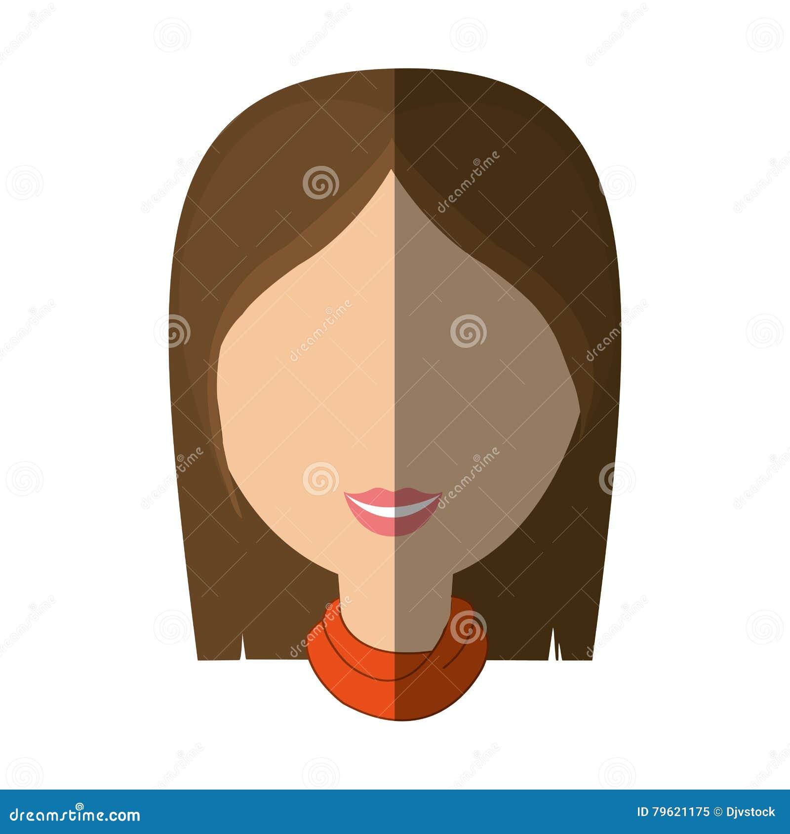 Avatar fêmea da mulher isolado