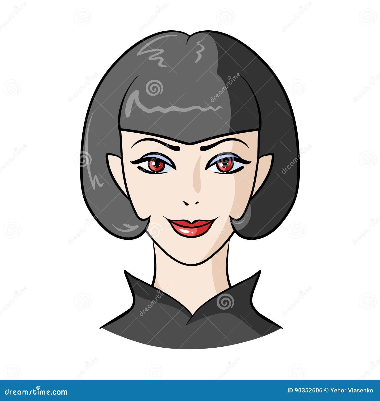 Avatar Girl With Short Hair Avatar And Face Single Icon In Cartoon