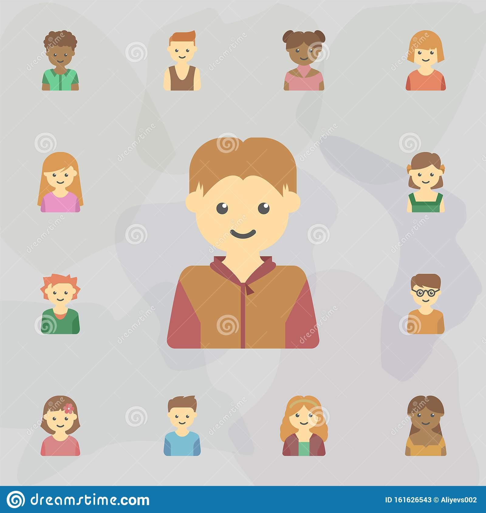 Avatar Of Guy Colored Icon Universal Set Of Kids Avatars For Website Design And Development App Development Stock Illustration Illustration Of Happy Person 161626543