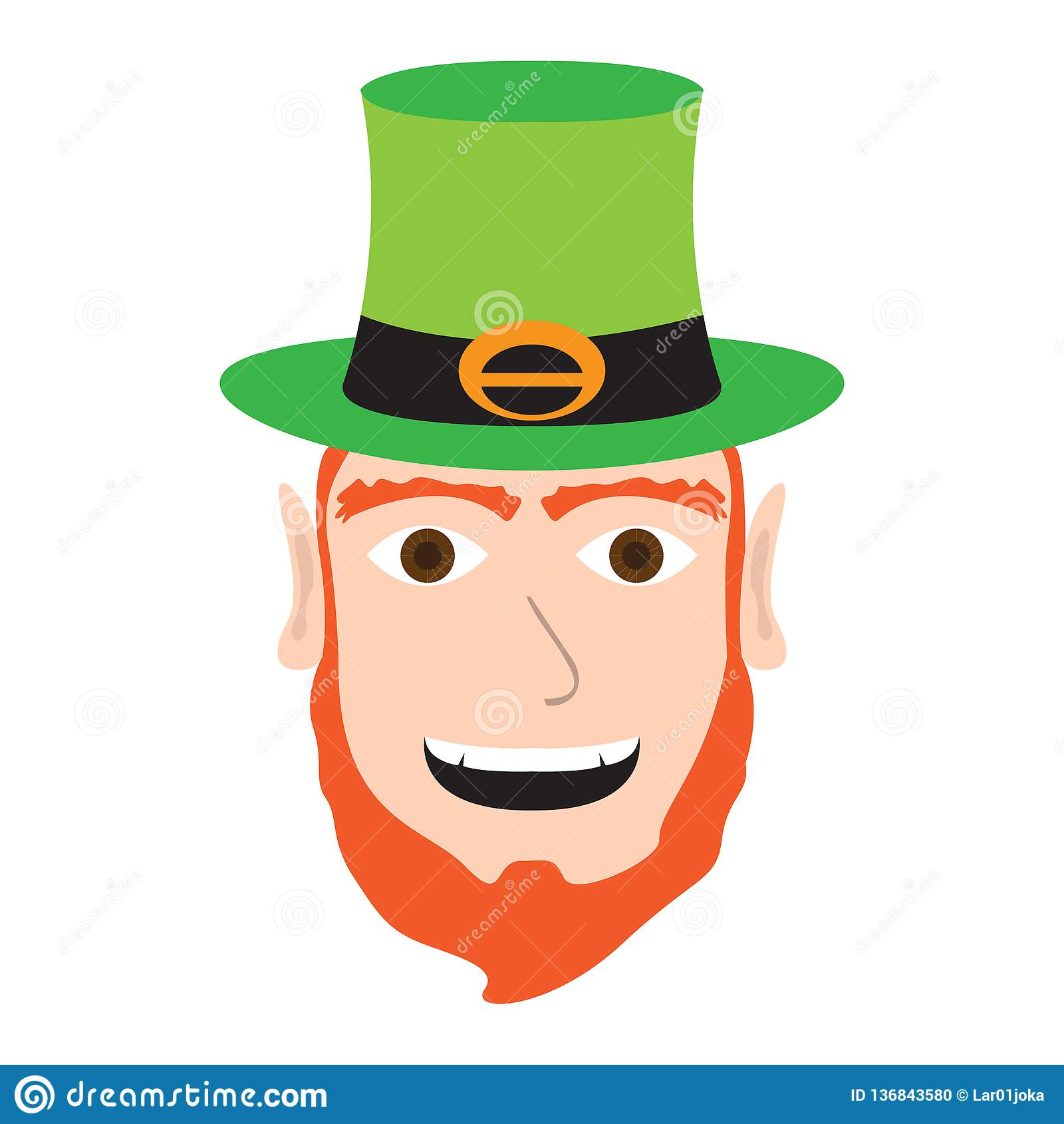 a6491bd567d4a Avatar of a happy irish elf. Vector illustration design. More similar stock  illustrations