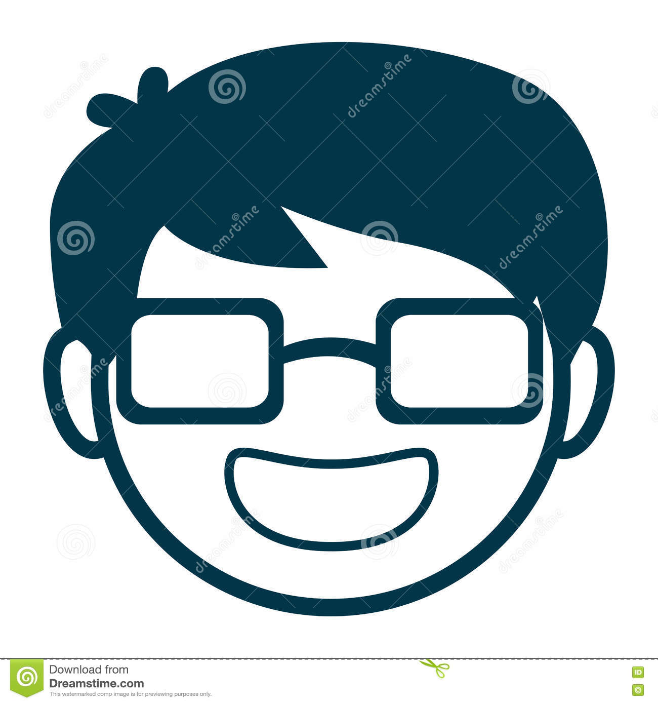 avatar man face with glasses stock vector illustration of funny