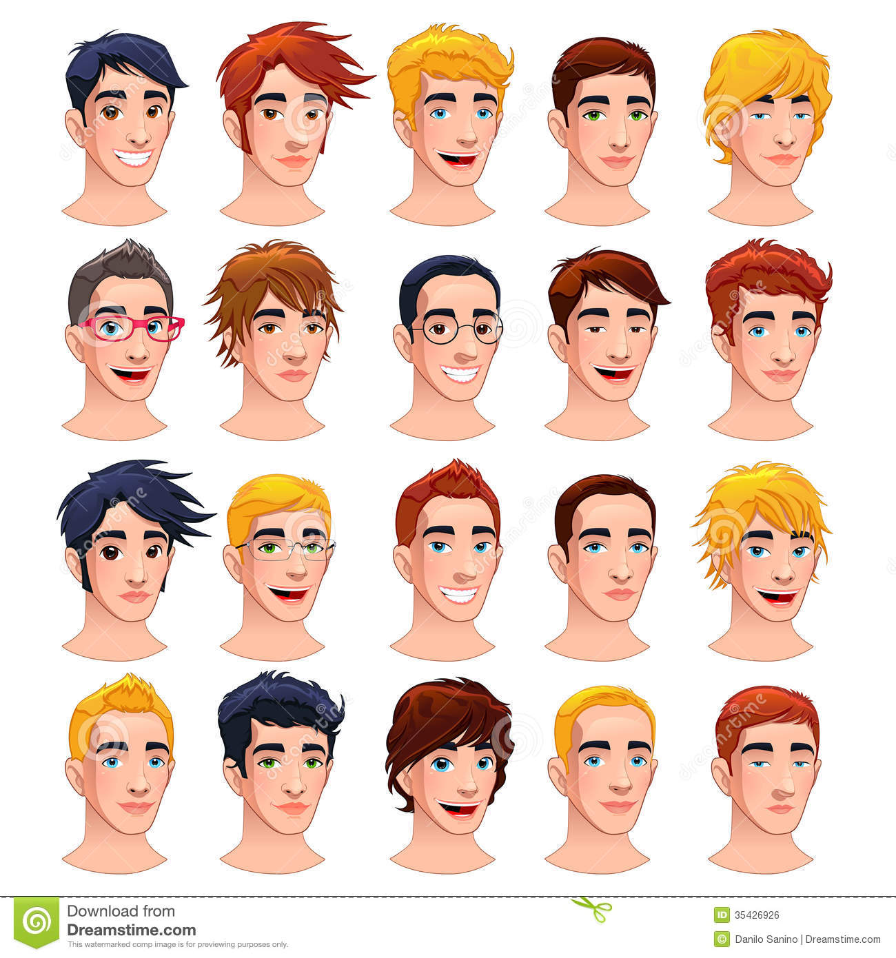 Avatar Men Stock Vector Illustration Of Collection
