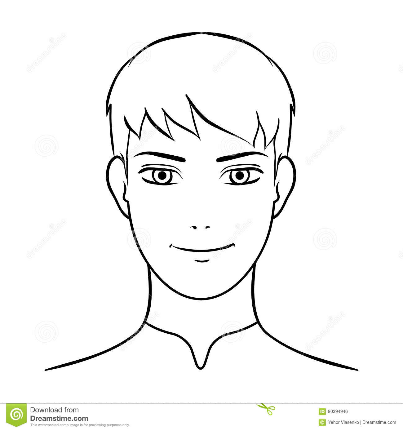 Avatar Men With White Hairavatar And Face Single Icon In Outline