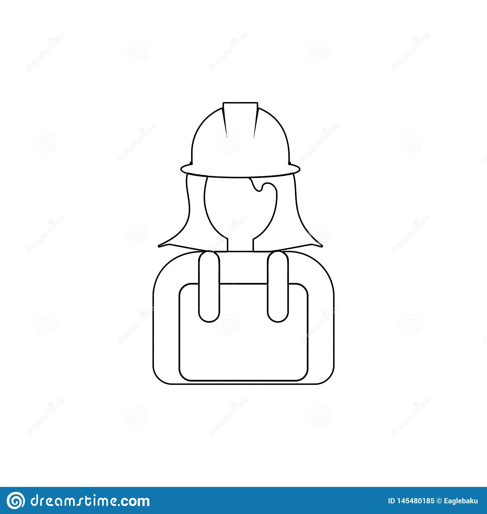 avatar outline icon. Element of popular avatars icon. Premium quality graphic design. Signs, symbols collection icon for websites