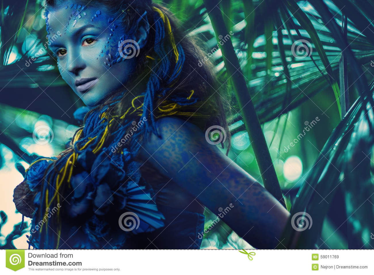 Avatar woman in a forest