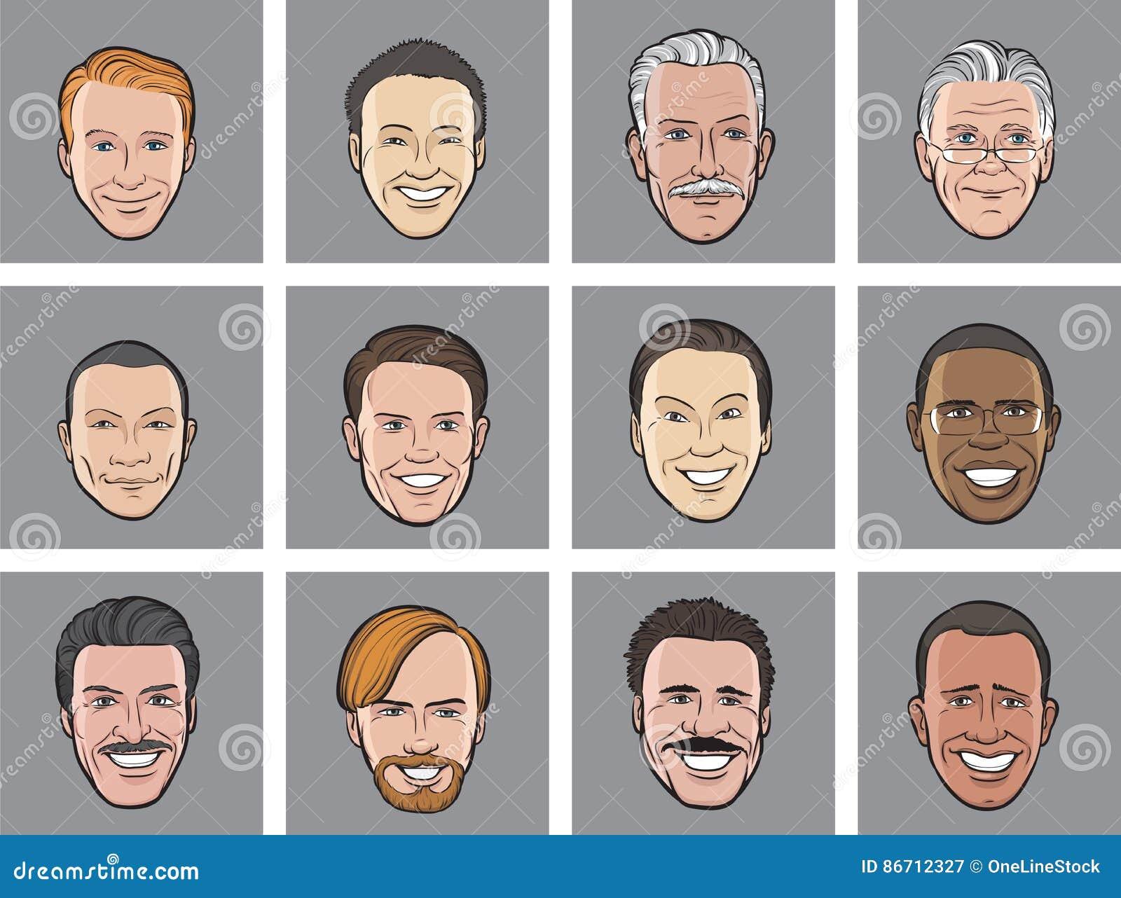 Avatartecknad film heads att le för män