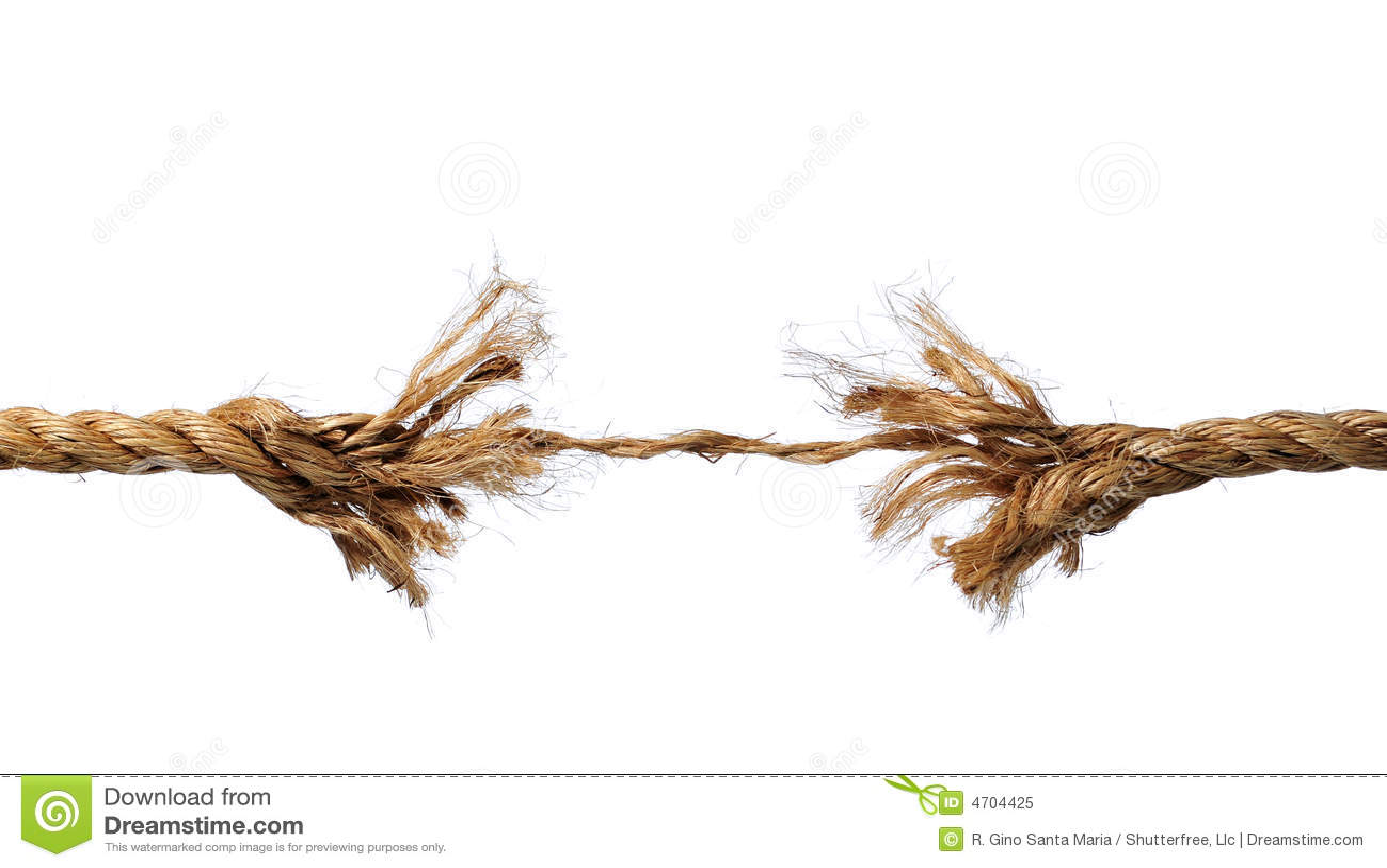 Avbrott slitet rep till
