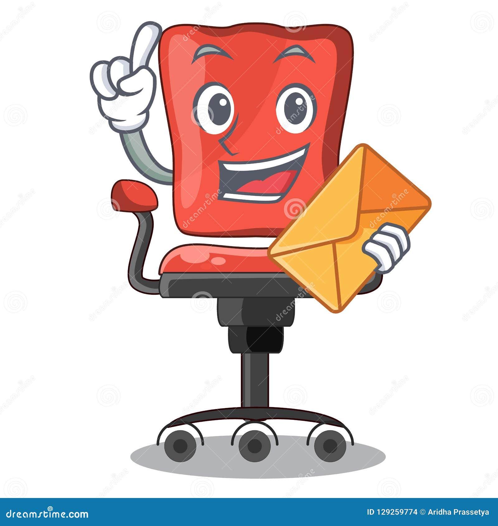 De Bande Dessinée La Le D'enveloppe Avec Chaise Bureau Dans cTK1J3lF
