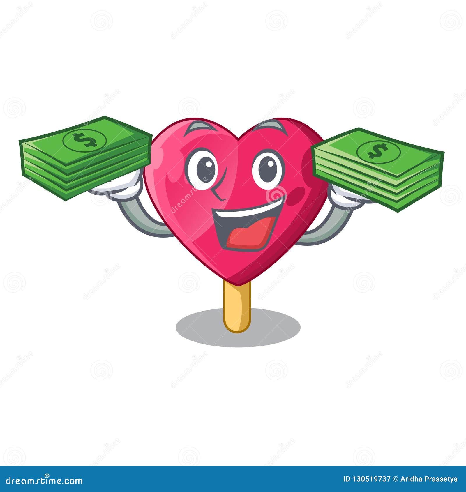 Avec la crème glacée en forme de coeur d argent la bande dessinée