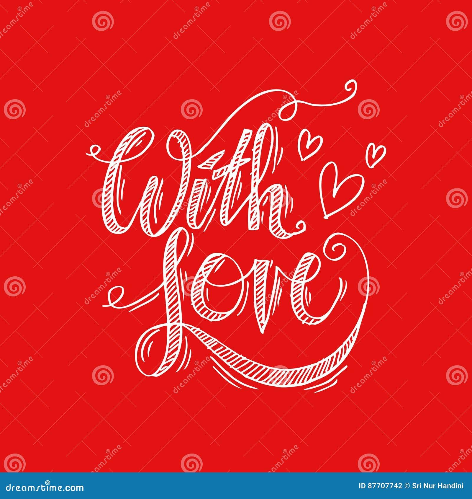 Avec le lettrage de main d amour