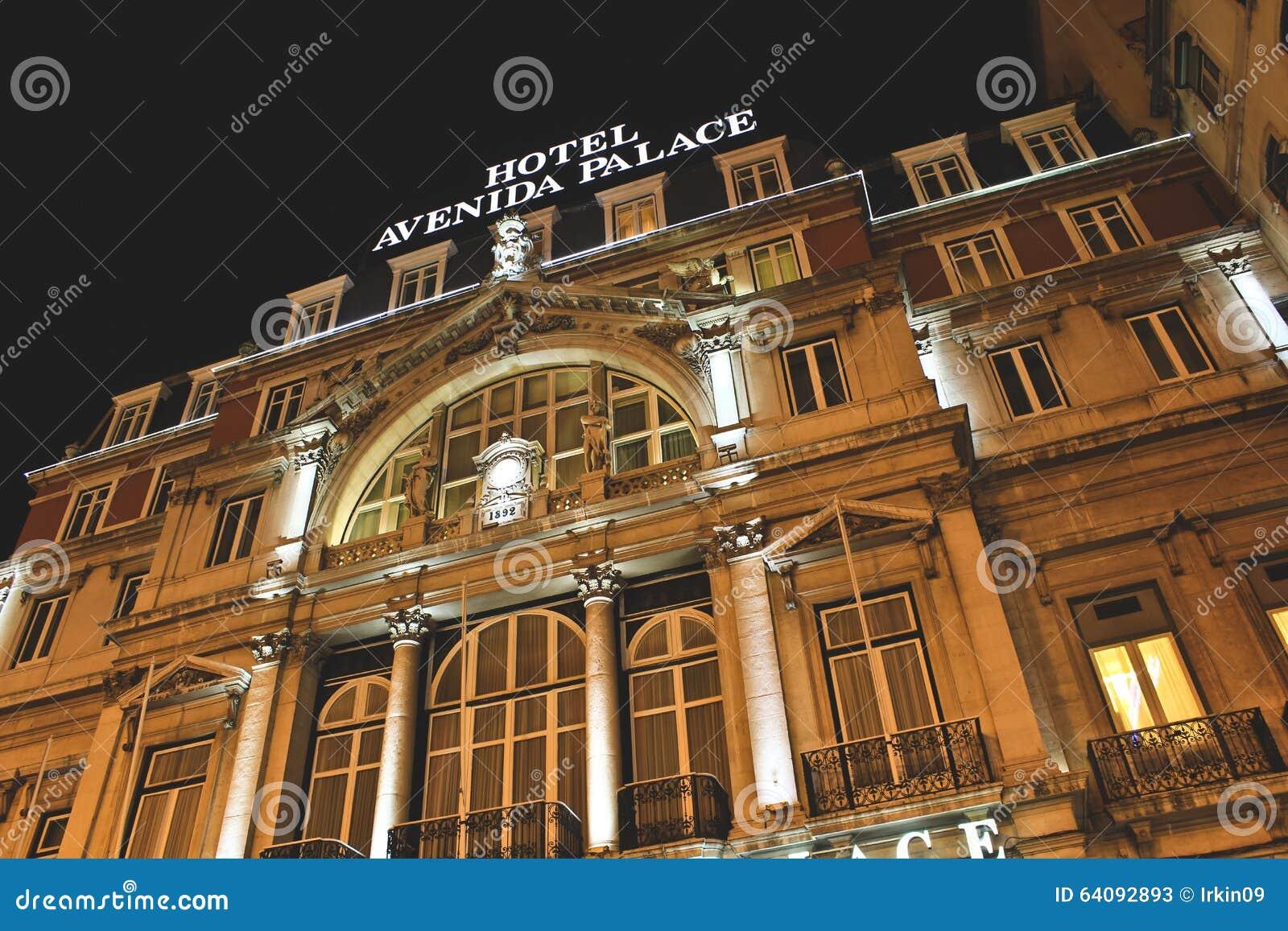 avenida palace hotel lisbon editorial stock photo image. Black Bedroom Furniture Sets. Home Design Ideas
