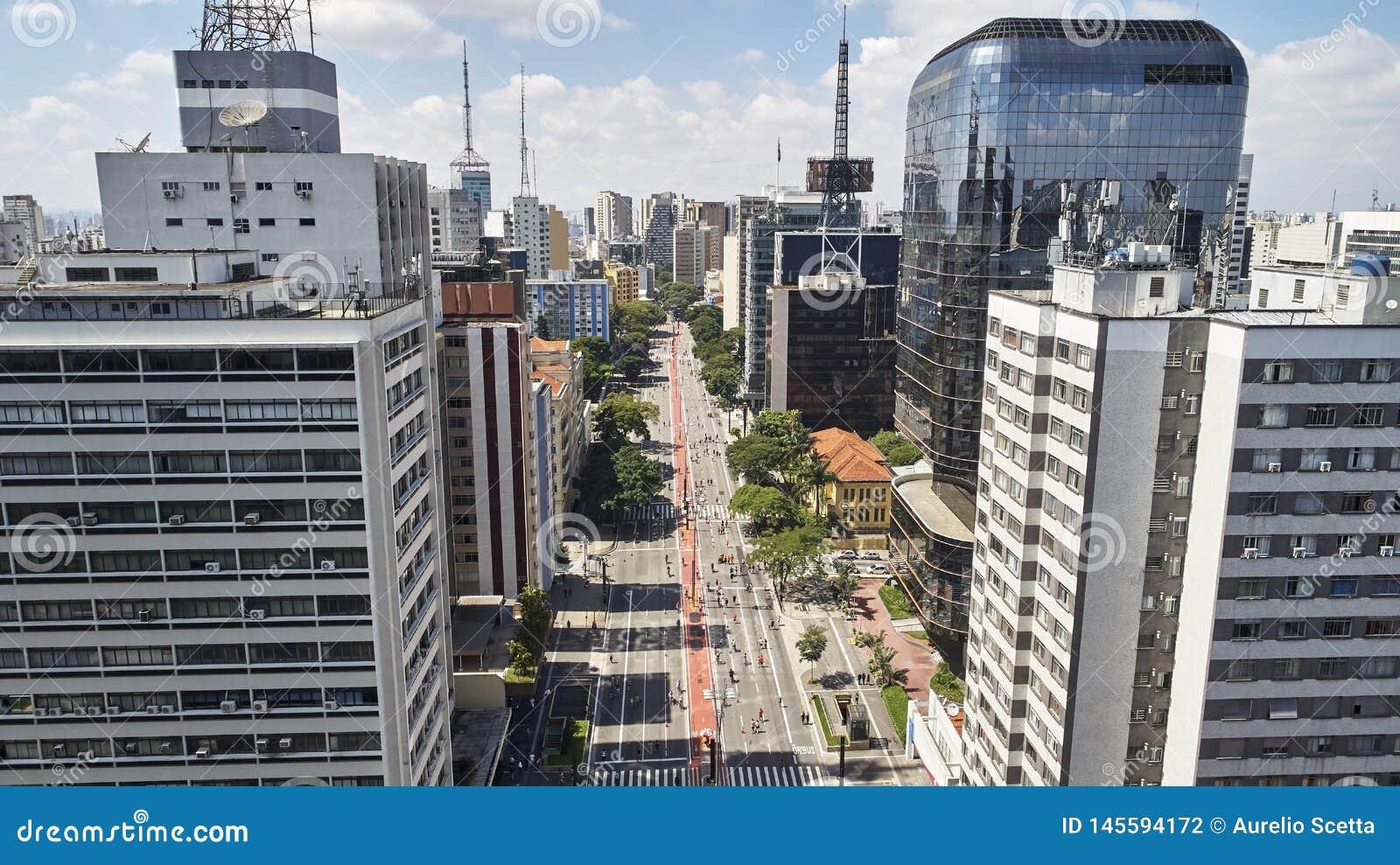 Avenida Paulista Paulista avenue, Sao Paulo city, Brazil